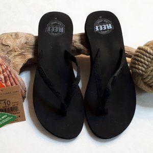Reef Women's Black Ginger Flip Flop Sandals